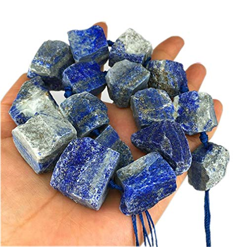 Natural Irregular Raw Stones Rough Rock Crystals Loose Beads, 20-30mm Drilled Gemstone for DIY Necklace Bracelet Jewelry Making