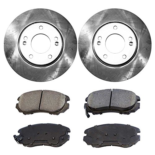 Prime Choice Auto Parts CBO41339924 2 Front Disc Brake Rotors and 4 Ceramic Brake Pads