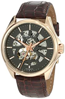 Kenneth Cole New York Men's Automatic Self Wind Stainless Steel Case Pig Skin Leather Strap Brown,(Model:KC1549) (B001KN3IKK) | Amazon price tracker / tracking, Amazon price history charts, Amazon price watches, Amazon price drop alerts