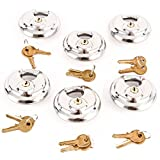 6 Stainless Steel Armor Disc Padlocks Trailer / Self Storage Locks Keyed Alike
