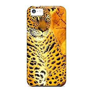 PVc8795lTeD Snap On Case Cover Skin For Iphone 5c(leopard Art)