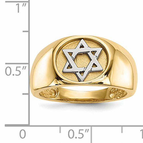 ICE CARATS 14k Yellow Gold Two Tone Jewish Jewelry Star Of David Band Ring Size 7.00 Religious Fine Jewelry Gift Set For Women Heart by ICE CARATS (Image #4)