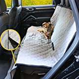 Waterproof Pet Seat Cover – Unique Design – Features Removable Washable Blanket – for Dog in Backseat of Car, SUV, Truck, Minivan [Gray] For Sale