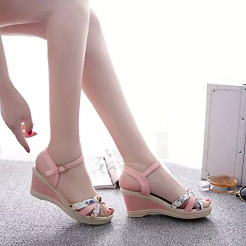 Amiley Sandales Pantoufles Flip-flop Pour Les Femmes, Les Coins Dété Sandales Pour Femmes Tongs Rose