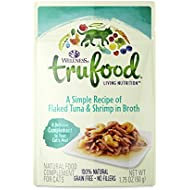 Wellness Trufood Complements, 1.75 Ounce, Flaked Tuna & Shrimp in Broth for Adult Cats, Pack of 24
