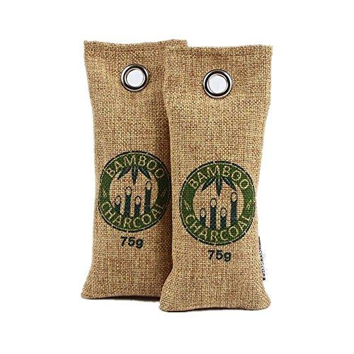 Natural Bamboo Charcoal Bag, Shoe Deodorizer, Car Deodorizer, Air Purifying Bag, Odor Eliminator - Filter Dehumidifier Pre