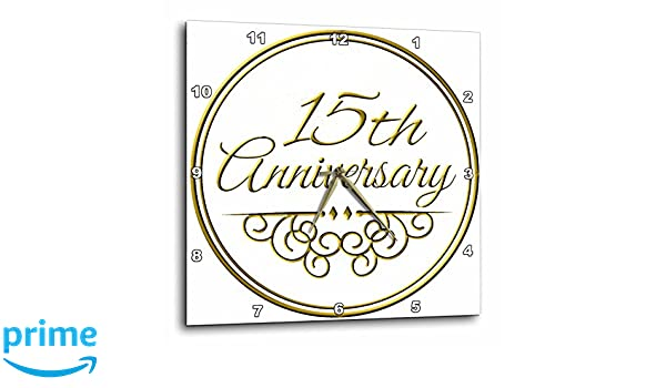 3dRose cp/_154487/_1 45th Gold Text for Celebrating Wedding Anniversaries 45 Years Married Together Porcelain Plate 8-Inch