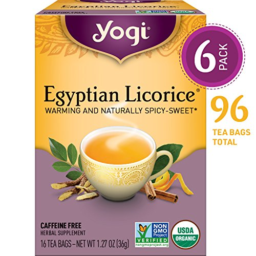 - Yogi Tea - Egyptian Licorice - Warming and Naturally Spicy Sweet - 6 Pack, 96 Tea Bags Total