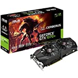 ASUS Cerberus GeForce GTX 1070 Ti 8GB GDDR5 Advanced Edition VR Ready DP HDMI DVI Gaming Graphics Card (CERBERUS-GTX1070TI-A8G-GAMING)