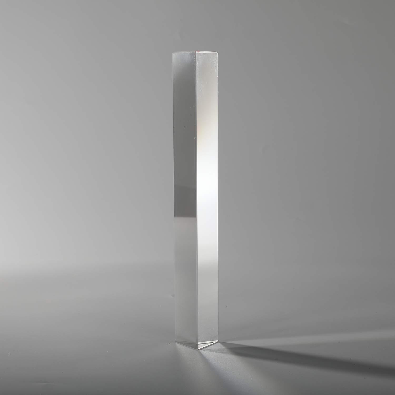 Followsun 4/10cm Vetro Ottico Triplo Prisma Triangolare Spettro di Luce per Insegnamento di Science Classroom e Fotografia dell'arcobaleno 10cm Prism