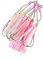 Octopus Lure Squid Jig Lures Big Squid Bionic Bait Skirt Soft Bait with Hook~