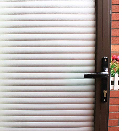 Mikomer Privacy Blinds Window Film,Stained Glass Door Film,Static Cling Window Tint,Heat Control Anti UV Removal Window Cling for Office and Home,35 inches by 78.7 inches (Shutters For Doors Window Patio)