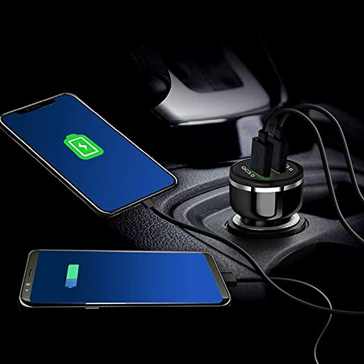 Amazon.com: QC3.0 USB Car Charger Car Charger Adapter with ...