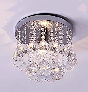 Modern simple circular aisle lights, creative porch hallway lights balcony corridor lights LED crystal ceiling lamp ( Size : L )