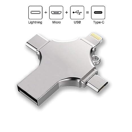 ALXDR Unidad De Memoria USB Tipo C, USB Tarjeta De Memoria 4 ...