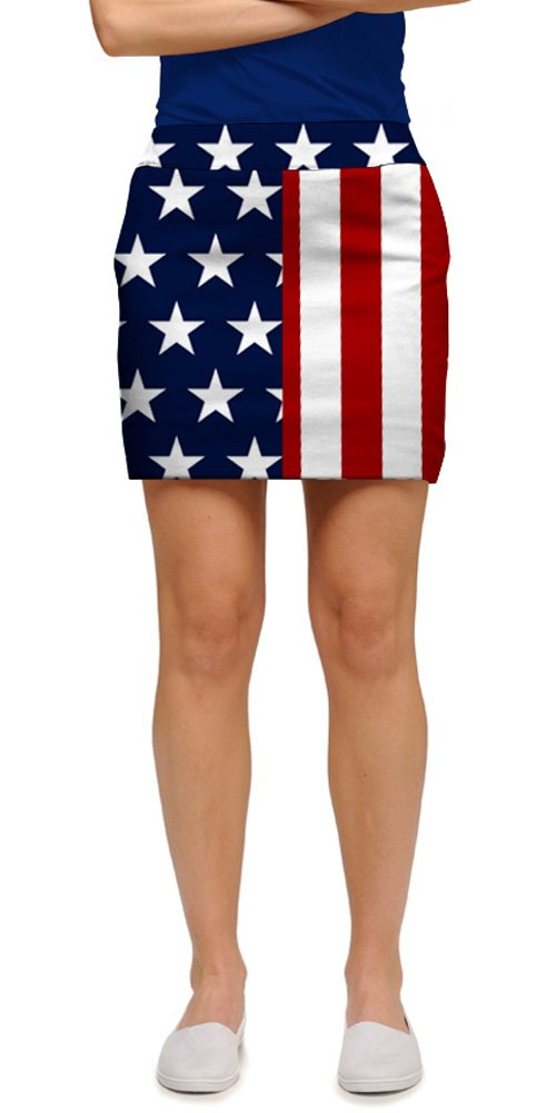 Loudmouth Golf Stars & Stripes StretchTech Women's Skort 08 by Loudmouth Golf