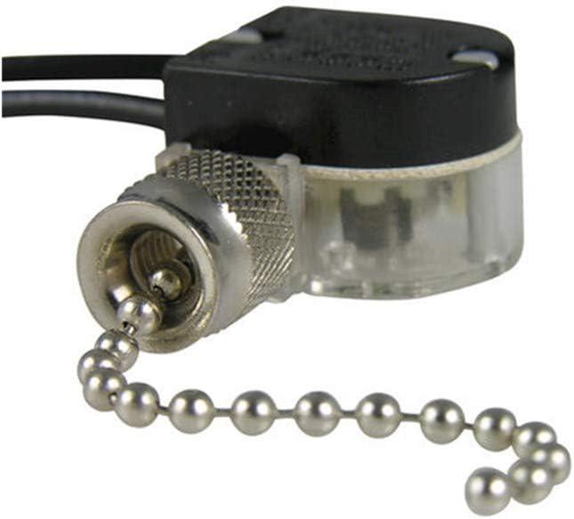 Pull Chain Switch Zing Ear ZE-109 Ceiling Fan Switch Ceiling Fan Light Lamp Replacement 2 Pack Nickel - -