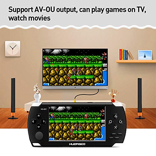 HuonGoo Handheld Game Console, Handheld Video Game 4.3 inch Screen 368 Classic Games,Retro Game Console Can Play on TV, Good Gifts for Kids to Adult. (Black) by HuonGoo (Image #5)