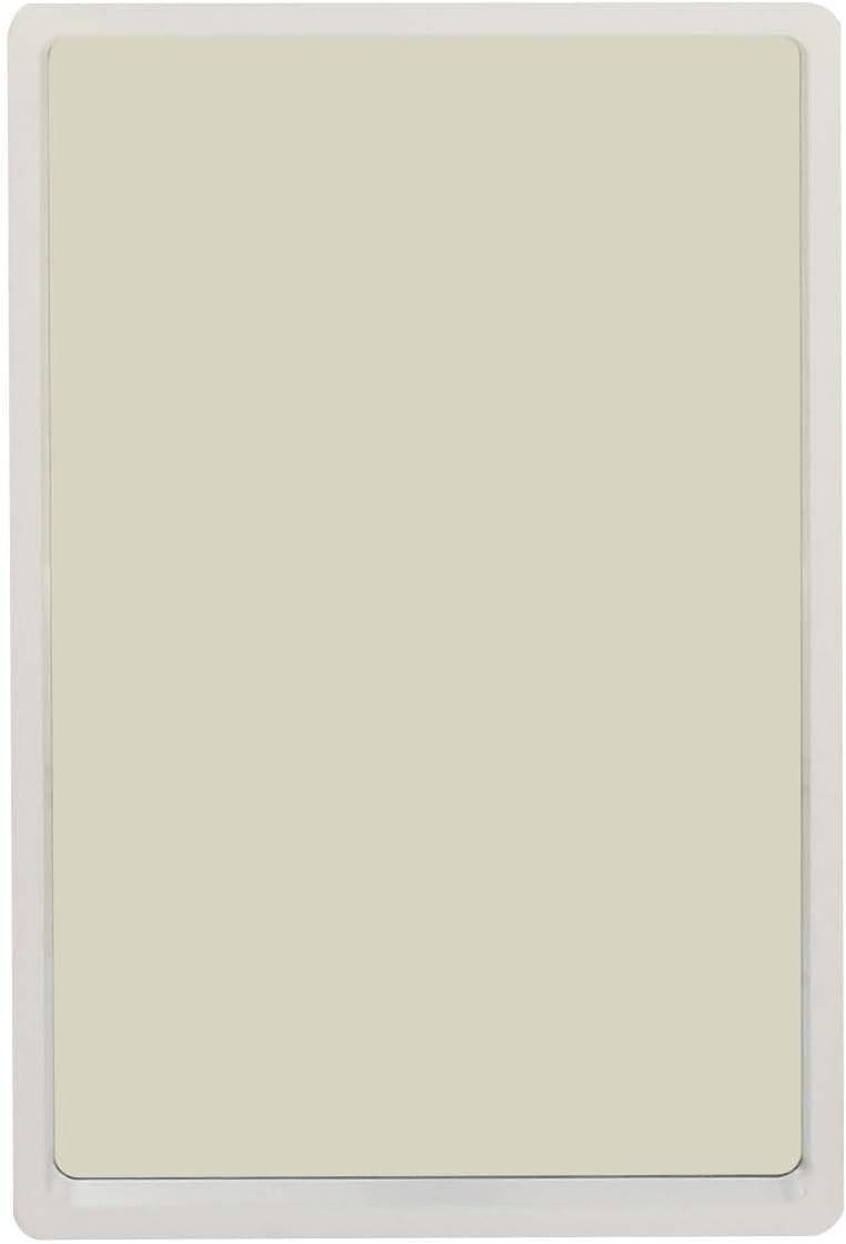 Deco 79 60161 Rectangular Wooden Wall, 36 x 23 , White Mirror