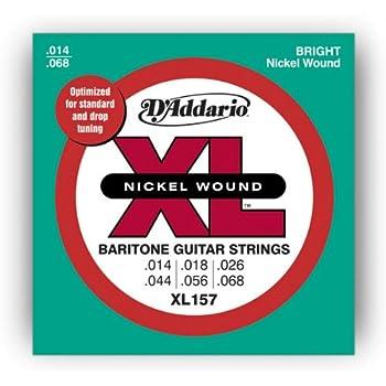 DAddario XL157 Nickel Wound Electric Guitar Strings, Baritone Medium, 14-68