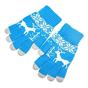 hao Deer Pattern Quality Screen Touching Gloves for iPhone, iPad and All Touch Screen Devices (Assorted Colors) , Black