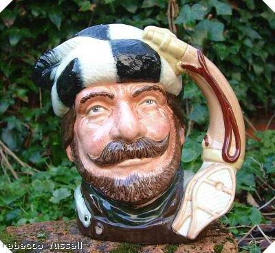 Doulton Large Character Jug - Large D6609 Royal Doulton Character Jug Toby Jug Trapper