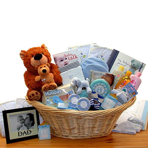 Deluxe Baby Gift Basket - Blue for Boys - Great Shower Gift Idea for Newborns by Organic Stores