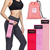 Shinyee Hip Booty Bands Fitness Resistance Loops for Women,Non Slip No Roll Heavy Duty Hip Resistance Bands Circle,Gym Workout Exercise Band,Great for Legs and Butt