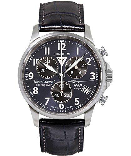 Junkers Mountain Wave Project ETA quartz watch Blu/Bk dial 1/10sec Chrono 6894-3
