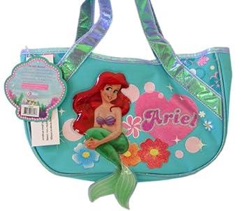 17362ec7aaa Disney Little Mermaid Purse w  Beautiful Tail - Blue Ariel Handbag ...
