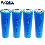 18650 Li-ion 3.7V 2600mAh Flat Top ICR18650 Rechargeable Battery No Plate 4pcs