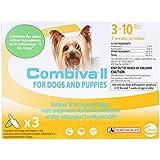 CEVA Animal Health D93130B Combiva II for Small Dogs 3-10 lbs. (3 Pack) Pet Flea Drops