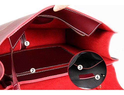 Rojo Marea Mujeres Honey Maletn Y Bolsas De Capacidad Diagonal Oscuro Paquetes Moda Bolsos Suave Color De De Cuero Mensajero ZCJB De Alta De Para Bolsas Bolsas Mensajero brown Hombro qgwp4Tx