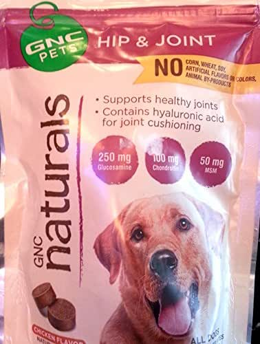 GNC Pets Naturals Hip and Joint Supplement Yummy Chicken Flavor 50 Tender Bites For All Dogs