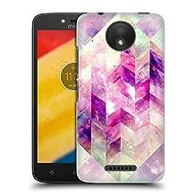 Official Barruf Abstract Geometric Pink Galaxy Hard Back Case for Motorola Moto G (3rd Gen)
