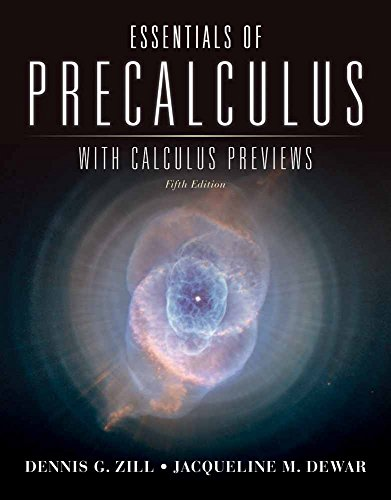 Essentials of Precalculus with Calculus Previews (Jones & Bartlett Learning Series in Mathematics)