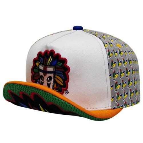 City Hunter Wt150k Kids Colorful Indain Mask 5 Panel Hat - Green