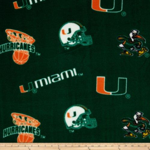 - Sykel Enterprises 0317700 Collegiate Fleece University of Miami Orange Fabric by The Yard,