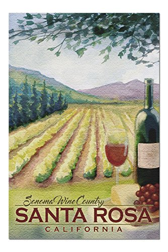 Santa Rosa, California - Sonoma County Wine Country (20x30 Premium 1000 Piece Jigsaw Puzzle, Made in USA!) ()