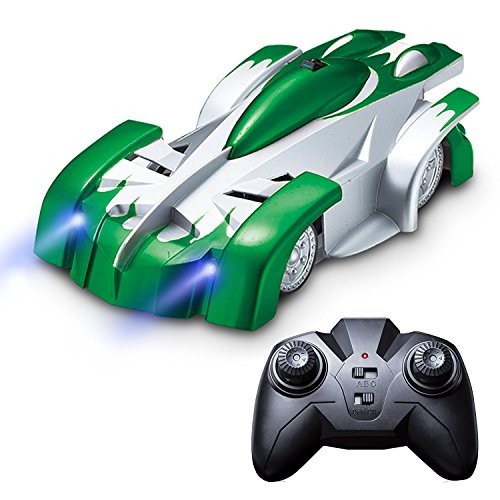 Wall Climbing Remote Control Car - Force1 Gravity Defying RC Car in Assorted Colors for a More Custom Mini RC Car (Green)