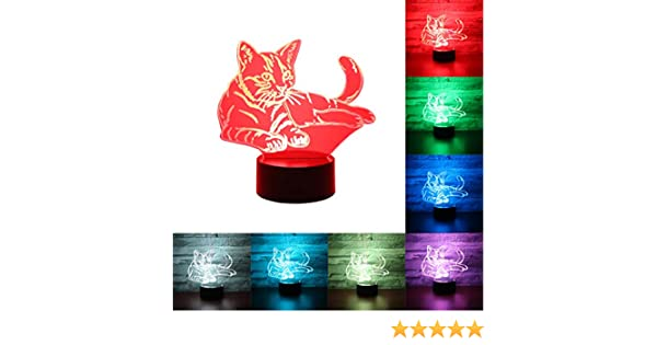 Hguangs Night Lamp for Unicorn Children 3D Optical Illusion Night Light 7 Colors Changing Touch Control Gifts Christmas Birthday Valentines Day Boy Girl