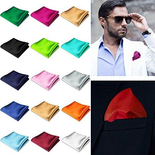 DP Design® Pochette mouchoir poche Satin Rouge grenat soie classique homme femme