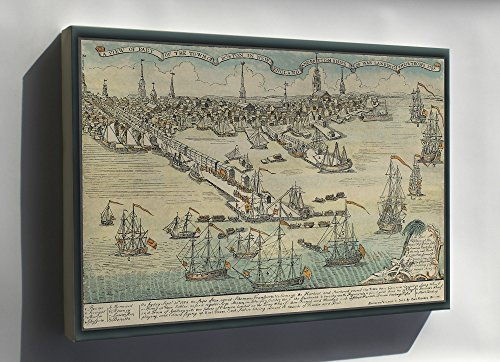 Canvas 16x24; British Landing In Boston 1768 Paul Revere'S 1768 Engraving