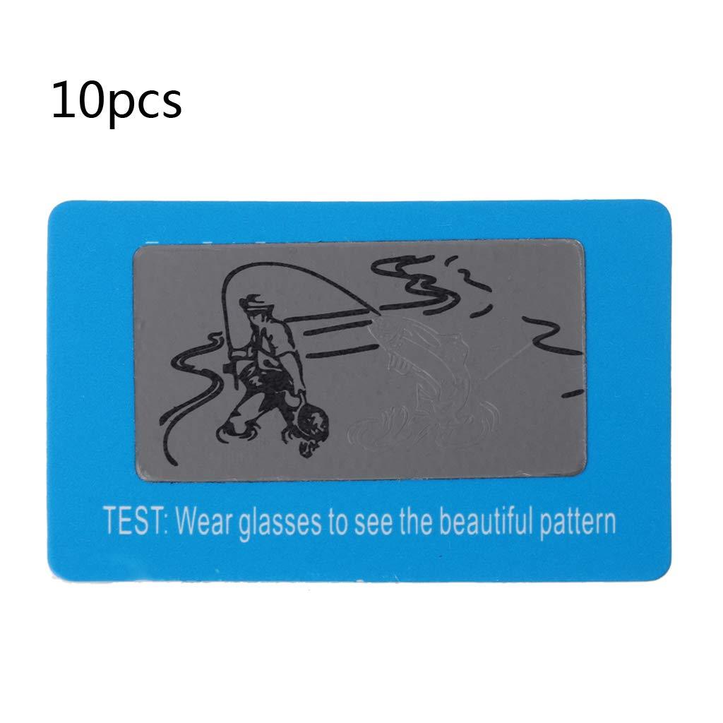 Hukai 10pcs Sunglasses Polarized Test Card Shade Test Your Sunglasses Polarized Lens