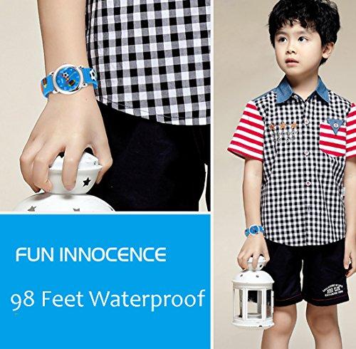 GRyiyi Kid's Outdoor Carton Waterproof Wrist Watch Time Teacher for Children 3D Rubber Band, Deep Blue by GRyiyi (Image #5)