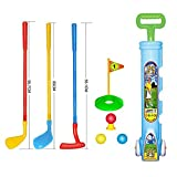 Children's Sports Education, Children's Golf Practice Junior Plastic Pro Golf Clubs Play Set Toys Training for Toddler Beginners Colorful