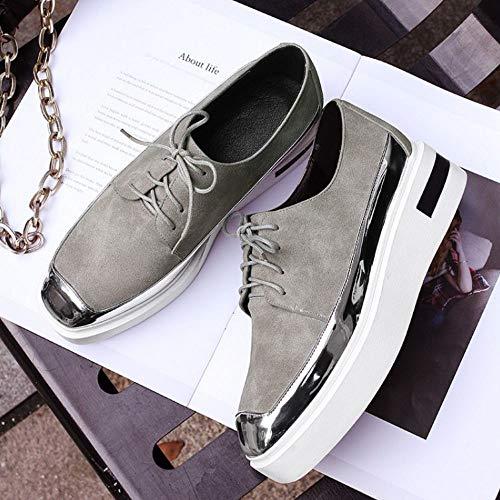 forme Mode 7 Formateurs Printemps Chaussures Elégant Kaki Plate Décontractée Femmes Taoffen q1vx5w4t5