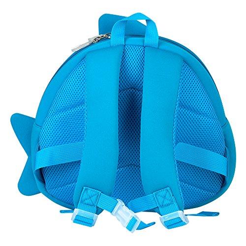 Kinderrucksack, Jenuther Animal Rucksack Kids Backpack Cute Cartoon Tier Rucksack Mini Schule Tasche for Kinder Baby Jungen Mädchen Kleinkind (A-Blue) C-blue