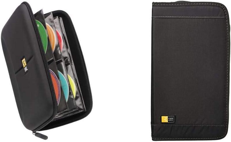Case Logic CDE-48 48 Capacity Heavy Duty CD Wallet, Black & CD/DVDW-92 100 Capacity Classic CD/DVD Wallet (Black)