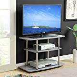Convenience Concepts Designs2Go 3-Tier TV Stand, Gray (Kitchen)